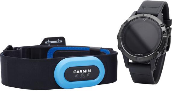 Garmin fenix 5 Saphir Performer Bundle / Premium HRM-Tri Brustgurt + QuickFit szary/czarny